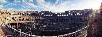 Panorama of Colosseum Stock Image