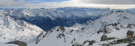 Large panoramic view of the Alps Stock Images