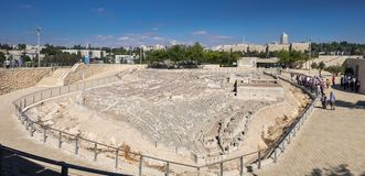 Large panoramic view of Model of Jerusalem in the Second Temple. JERUSALEM, ISRAEL - OCTOBER 13, 2017: Large panoramic view of Model of Jerusalem in the Second royalty free stock photos