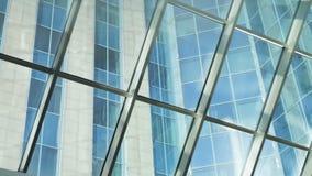 Large panoramic window stock video footage