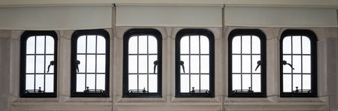 Large panoramic window Royalty Free Stock Photos