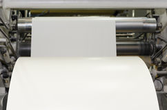 Large paper Roll Print machine. In production royalty free stock photo