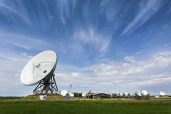 Large parabolic satellite station for interception of telecommun Stock Photography