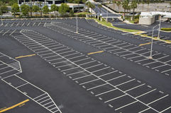 Large parking lot Stock Images