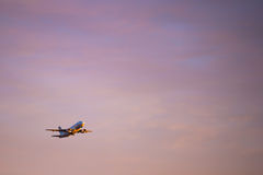 Large Passenger Airplane Taking Off Royalty Free Stock Images
