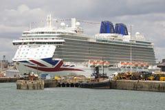 Large passenger cruise ship alongside Stock Photography