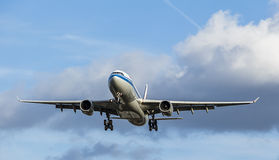 Large Passenger Aircraft Landing Approach Royalty Free Stock Images