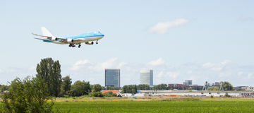 Passenger jet landing Stock Photography