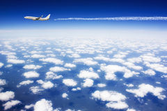 Large passenger plane Stock Photography