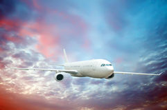 Large passenger plane Royalty Free Stock Image