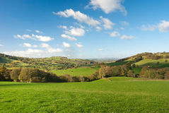 Large pastureland in Wales Royalty Free Stock Image