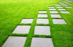 Large Pavers on Diagonal Royalty Free Stock Image