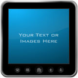 Large PDA screen Stock Photos