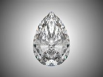Large pear cut diamond. 3d render Stock Photography