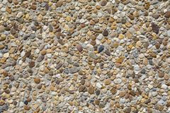 Large Pebble Dashed Surface. A shot of a pebble-dashed surface stock photos