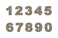 Large pebble  numeral. Numeral stylized in the form of a stone laying Royalty Free Stock Photo