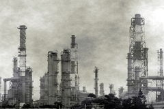 Large Petrochemical Complex with Smog Stock Image