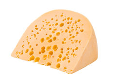 A large piece of cheese isolated Royalty Free Stock Photo