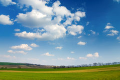 Large piece of land and blue c Stock Photo