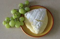 Large piece of ripe brie Royalty Free Stock Images