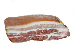 Large piece of smoked bacon Stock Photo