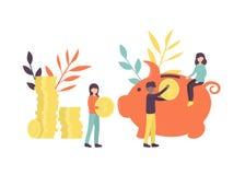 Large piggy bank stock illustration