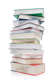 A large pile of books, school books.  stock image