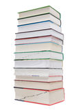 A large pile of books, school books.  royalty free stock photos