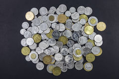 Large Pile of Canadian Change stock photo