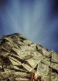 Large pile of cash Stock Photo