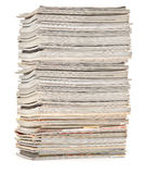Large pile of colorful magazines Royalty Free Stock Image