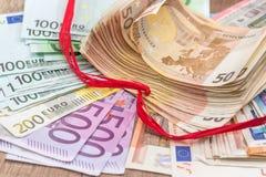 large pile of euro money Stock Photography