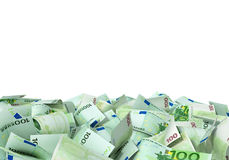 A large pile of euro notes Royalty Free Stock Photos