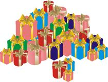Large pile of gifts Stock Photography