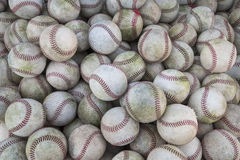 A large pile or group of baseballs Stock Photo