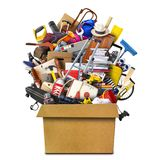 Large pile of household things stock photography