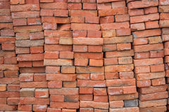 Large pile of red bricks background 2 Royalty Free Stock Photos