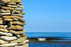 Large pile of stones Stock Images
