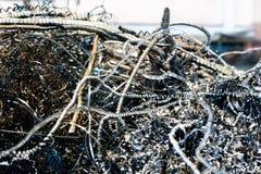 Large pile of waste metal scrap Royalty Free Stock Images