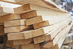A pile of wooden planks Stock Photography