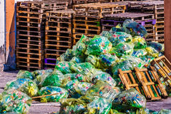 Large piles of garbage Stock Images