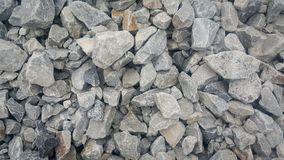 Large piles of limestone for use in lime kiln line. Large and small piles of limestone for use in lime kiln line . Limestone gravel background Texture royalty free stock photos