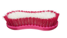 Large pink cleaning brush Royalty Free Stock Photography
