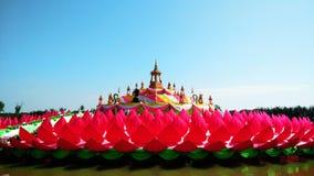 Large pink lotus Stock Photo