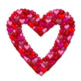 Large pink and red heart Stock Photography