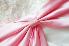Large pink silk bow Royalty Free Stock Photos