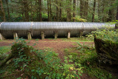Large Pipeline Industrial Hydroelectric Industry Construction Stock Image