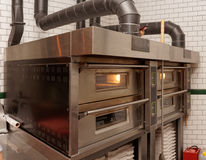Large pizza oven Stock Images