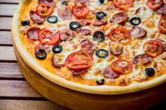 Large pizza Royalty Free Stock Images
