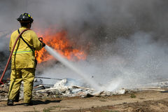 Large Plastic fire Stock Photo
